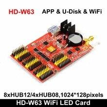HD W63 Huidu Wifi Driver Usb Ha Condotto Il Regolatore Senza Fili Scheda di Controllo In Bianco E Nero