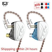 KZ AS16 8BA Units Balanced Armature Headset High Sound Quality Monitor Level Noise Reduction Fever HiFi Earphones C16 BA10 AS10