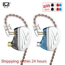 Kz as16 fones de ouvido 8ba, fones auriculares, armadura equilibrada, alta qualidade de som, monitor de nível de ruído, redução de ruído, febre c16 ba10 as10