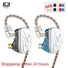 Сбалансированные арматурные наушники KZ AS16 8BA с монитором высокого качества и шумоподавлением, Hi Fi наушники C16 BA10 AS10