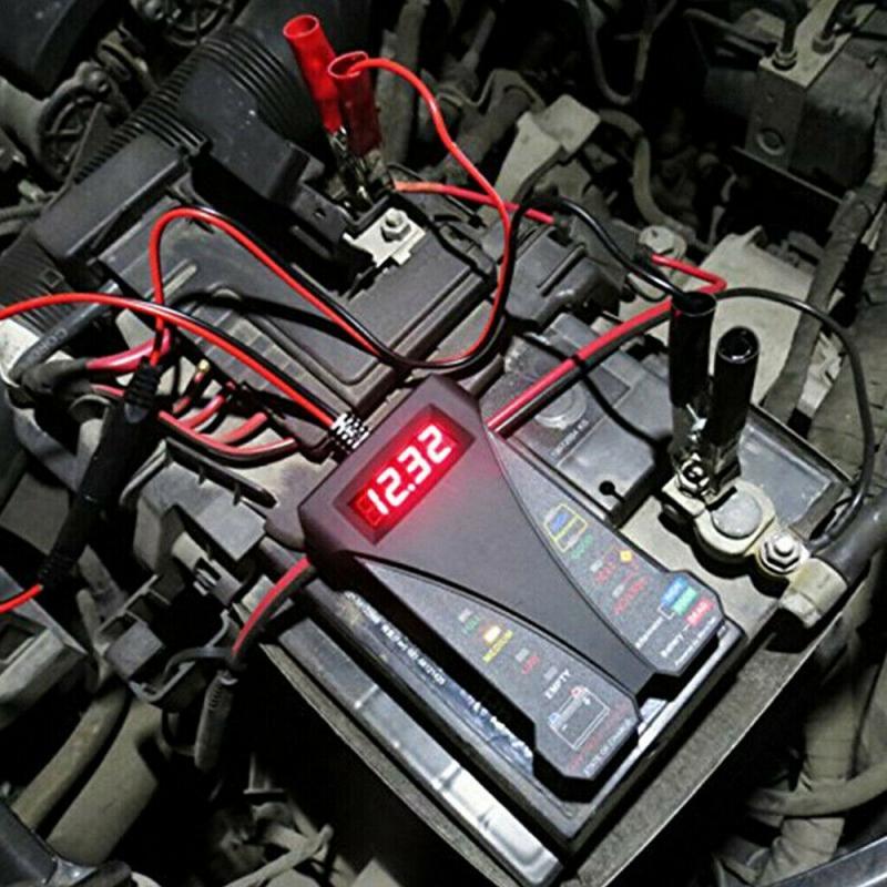 Автомобильные аксессуары 12 в автомобильный тестер на батарею 8 светодиодов цифровой тестер на генератор переменного тока автоматический а...
