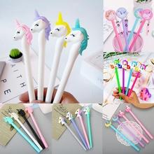 20pcs Unicorn Pens Kawaii Neutral Gel Pen Cute Ink For School Office Writing Gifts Korean Stationery Promotional