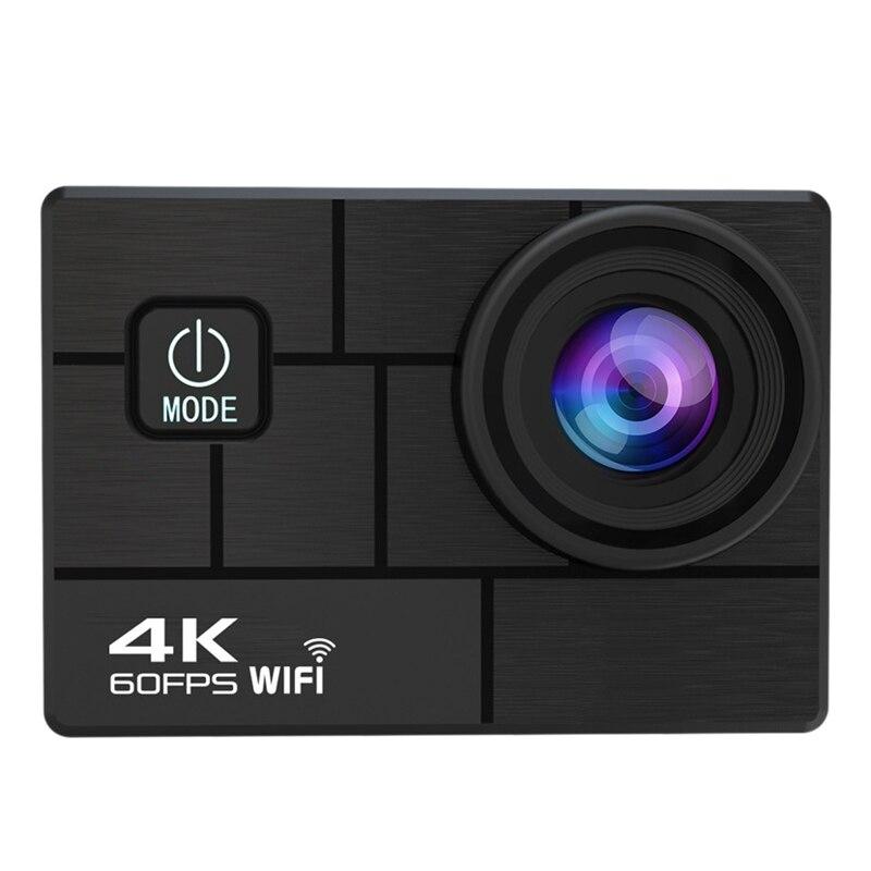 4K / 60Fps WIFI Action Camera 170 degree Wide Angle Underwater 30M Waterproof Camera Helmet Go Sports Pro Vlog Camera