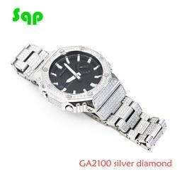 GA2100 Diamond Watch Set Modification GA2110 Watchband Bezel Metal 316L Stainless Steel