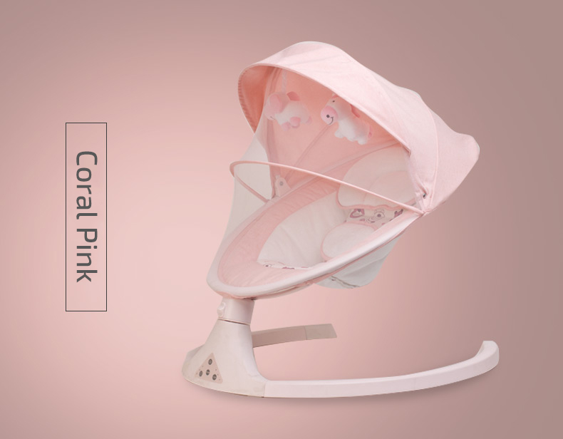 H5f1e7471f56641b0a25250bf248c1cdbh Infant Shining Smart Baby Rocker Electric Baby Cradle Crib Rocking Chair Baby Bouncer Newborn Calm Chair Belt Remote Control
