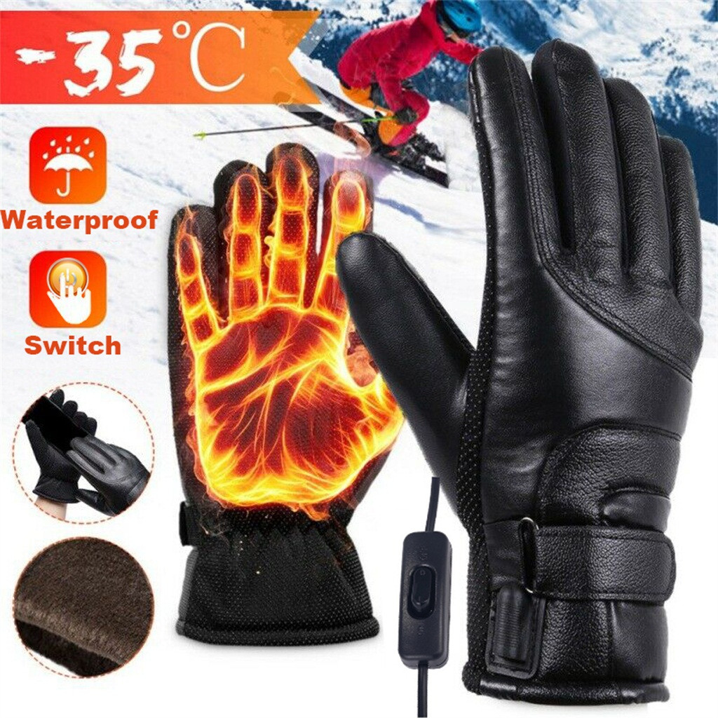 1 Pair Electric USB Gloves Heater Heated Gloves Carbon Fiber Cloth USB Heated Gloves Pad luva calefaccion guantes Outdoor Sports