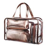 Women Transparent Cosmetic Bag Makeup Storage Clear Five Piece Set Pvc Portable New Handbag Large Capacity Travel Korean Fashion