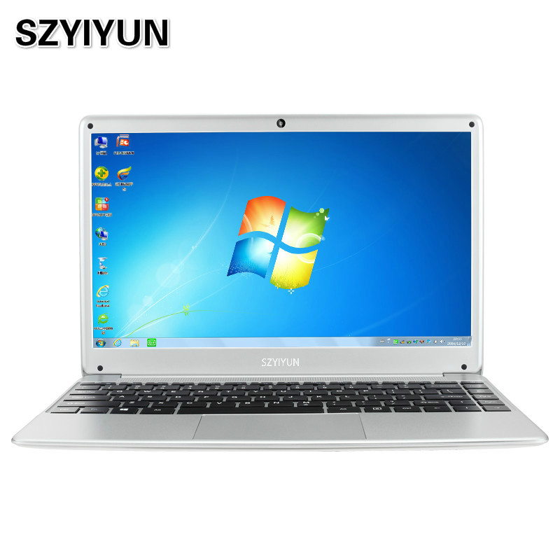 14 Inch Intel Laptop N3520 8G RAM Windows 7 Portable Business Office Notebook Computer Travel Netbook Quad Core 2.16GHz Laptop