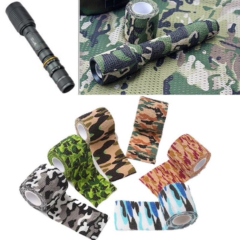 1pcs Camo Outdoor Hunting Shooting Blind Wrap Camouflage Stealth Tape Self-adhesive Non-woven Hunting Tape