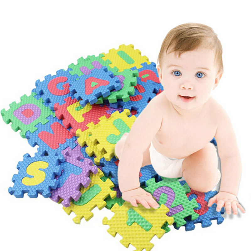 36-Pieces Foam Puzzle Mat Learning ABC Alphabet Study Kids Letters Floor Play Toy Education Learning Toys