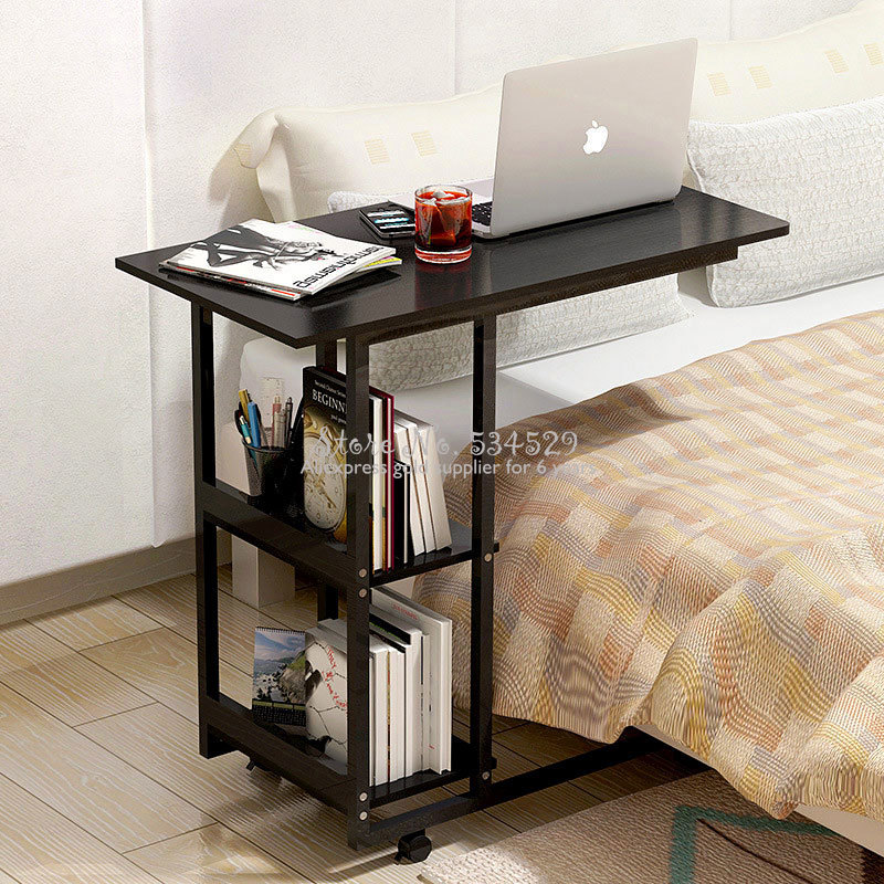 38%Simple Lifting Mobile Computer Desk Learning With Household Folding Mobile Bedside Table Flexible Computer Desk
