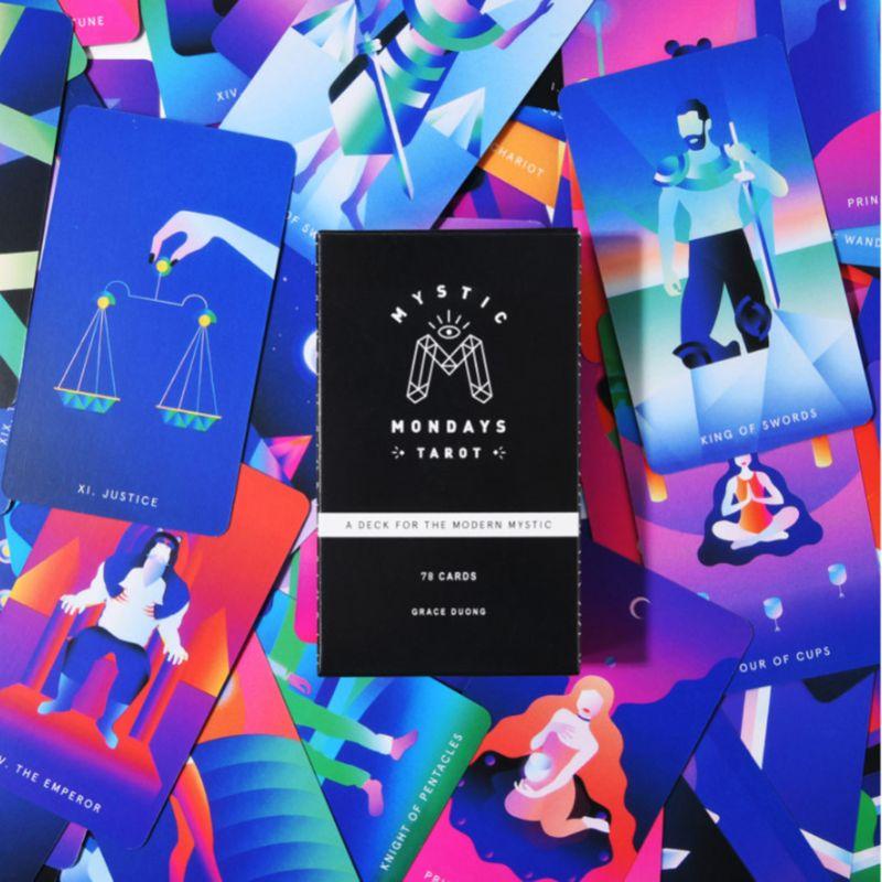 2020 New Mystic Mondays Tarot 78 Cards Tarot Deck English Prophet Cards Tarot Divination