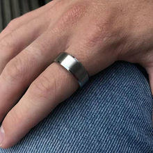 Matte er Ringe Breite 8MM Trendy Drei Farbe Edelstahl Ringe ner Schmuck Geschenk