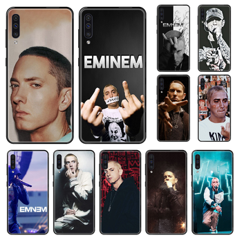 Singer Eminem Q12 Phone case For Samsung Galaxy A 3 5 8 9 10 20 30 40 50 70 E S Plus 2016 2017 2018 2019 black 3D funda tpu image