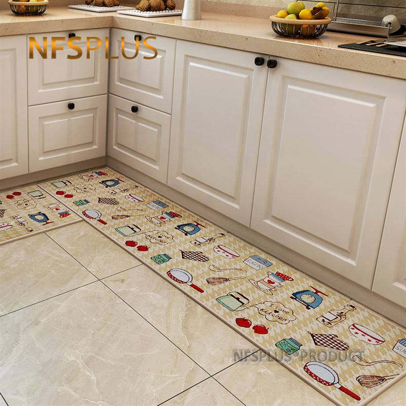 Jacquard Kitchen Carpet Floor Mat Polyester Fiber 4 Sizes Pvc Dots Anti Slip Rugs Hallway Decorative Door Mat Entrance Doormat Mat Aliexpress