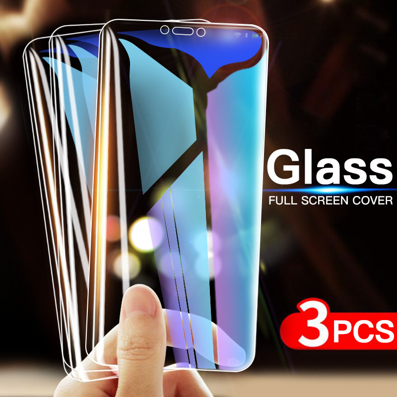 3Pcs Protective Glass For Samsung Galaxy J3 J5 J7 2016 2017 J4 J6 J8 Plus 2018 Screen Protector Film 9H 2.5D Tempered Glass