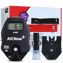 Import From USA PTS Diagnostics HbA1c Now+ System Professional Multi Test Blood Glucose Monitor 10 Test Strips