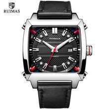 Mechanical Watch Men Wrist Automatic Retro Business Watches Men Waterproof Black Leather Watch Clock Montre Homme  Wristwatch