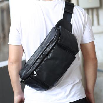 Gorący sprzedawanie torby męskie prawdziwej skóry męska torba na klatkę piersiowa wodoodporne męskie skórzane torby na ramię modne torby podróżne męska torba Crossbody tanie i dobre opinie LUENSRO CN (pochodzenie) PRAWDZIWA SKÓRA poduszka Stałe Kieszonka na telefo Wewnętrzna kieszeń na zamek błyskawiczny