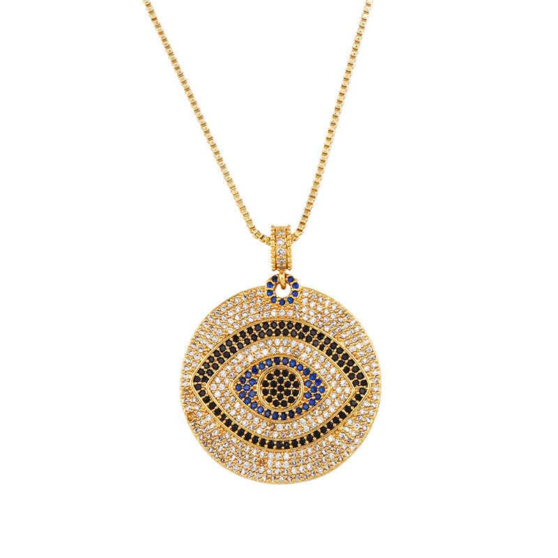 Arc-en-ciel Zircon collier pendentif oeil magique pendentif Net couleur rouge Zircon court chandail chaîne pendentif femme bijoux accessoires