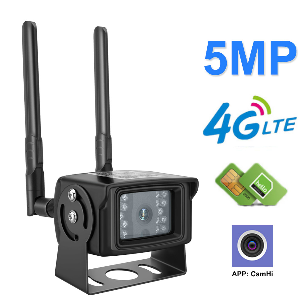 4G Camera IP 1080P 5MP HD 3G Sim Card Camera Metal Case Outdoor WIFI Camera Wireless MINI CCTV P2P For Car APP CamHi image