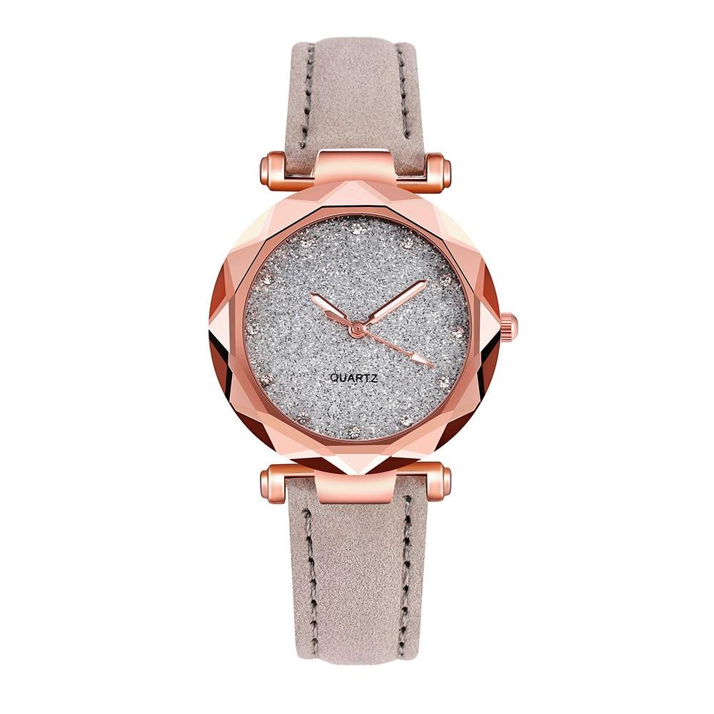 Ladies fashion Korean Rhinestone Rose Gold Quartz Watch Female Belt Watch Free shipping on fashion, simple and luxurious ladies