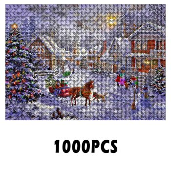 Puzzle Jigsaw Christmas Pattern Puzzle Paper Assembling Puzzle Jigsaw Educational Toys for Children Creative Gifts недорого