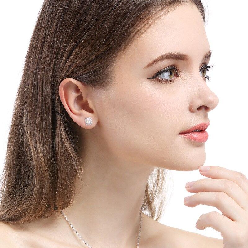 Usine Direct corée nouveaux accessoires S925 en argent Sterling perle boucles d'oreilles femmes Zircon oreille bijoux - 3