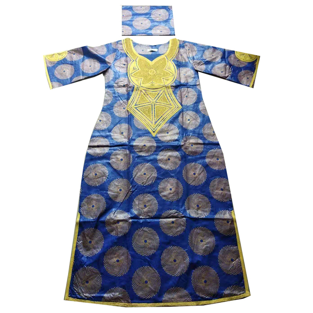 MD 2020 new africa dresses for women bazin dashiki african women dresses embroidery women african clothing dress and head wraps
