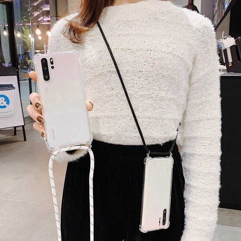 Для Huawei P20/P30/P40 Pro/Lite для Huawei Y5/Y6/Y9 2018 Y7/Y9 2019 Y5/Y6/Y7 P 2020 чехол с цепочкой и ремешком через плечо