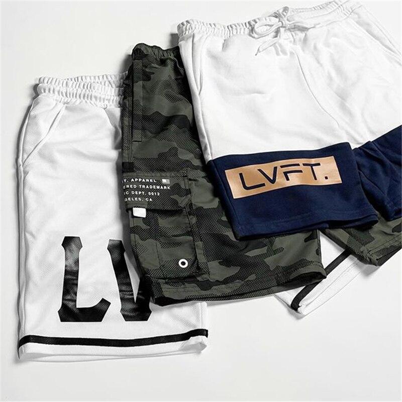 Men's Casual Cotton Jogger Shorts Men Sexy Sweatpants Male Fitness Bodybuilding Workout Summer Shorts Mens Gym Print Sweatpants
