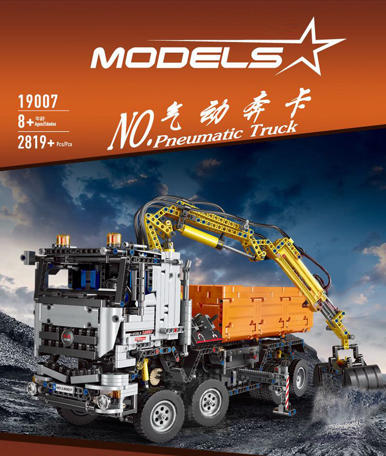 MOULD KING Technic MERCEDESE AROCS Remote control Truck App Motorized Car Building Block 1