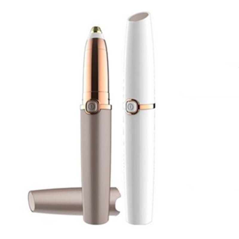 Portable Mini Painless Electric Eyebrow Trimmer Makeup Eye Brow Epilator Shaver Razors Women Depilator Facial Hair Remover 30#