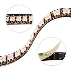 WS2815 DC12V RGB LED Pixel Streifen Licht Einzeln Adressierbaren LED-Dual-Signal 1 m/5 m 30/60/144 Pixel /Leds/m led streifen 12v