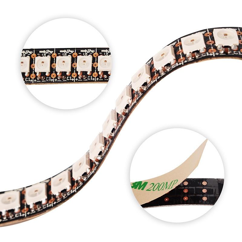 WS2815 DC12V RGB LED Pixels Strip Light Individually Addressable LED Dual-Signal 1m/5m 30/60/144 Pixels/Leds/m Led Strip 12v