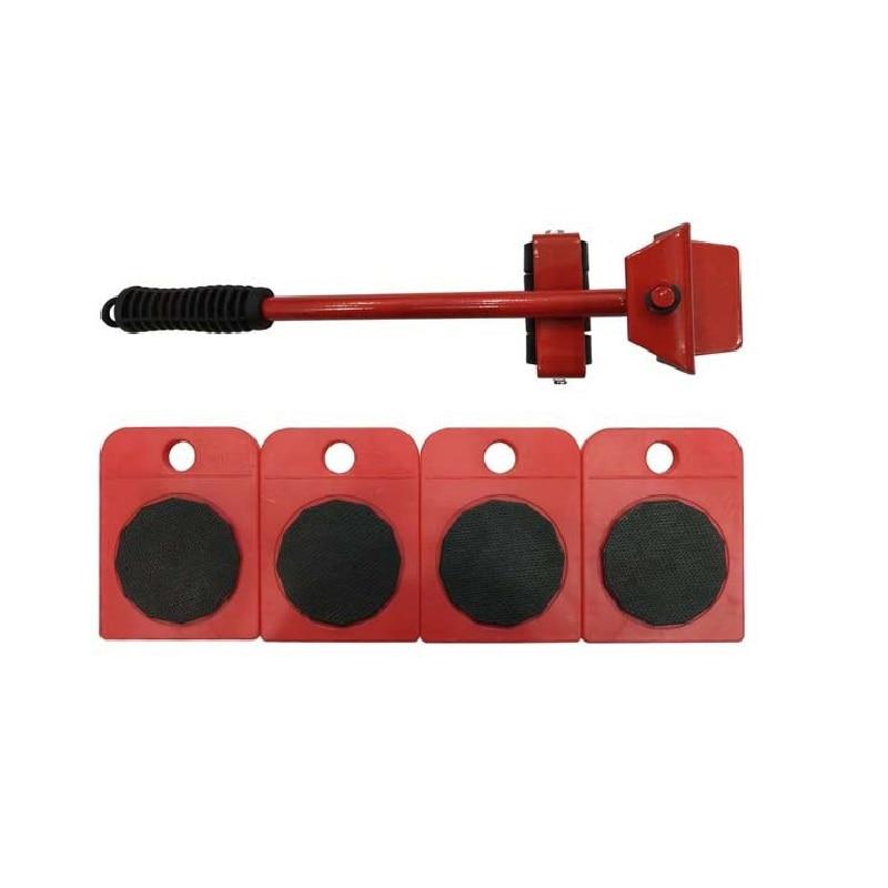5Pcs Furniture Transport Lifter Tool Set Heavy Stuffs Moving Hand Tools Set Wheel Bar Mover Device