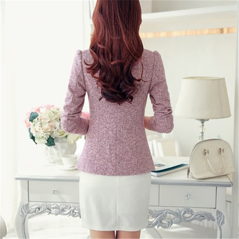 New Fashion S-3XL Blazer Mujer Single Button Women Blazers And Jackets Spring Autumn Slim Coats Feminino CJ015