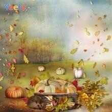 Yeele Autumn Farm Harvest Pumpkin Dreamy Fairy Tale Tree Photography Backdrop Newborn Baby Background Vinyl For Photo Studio