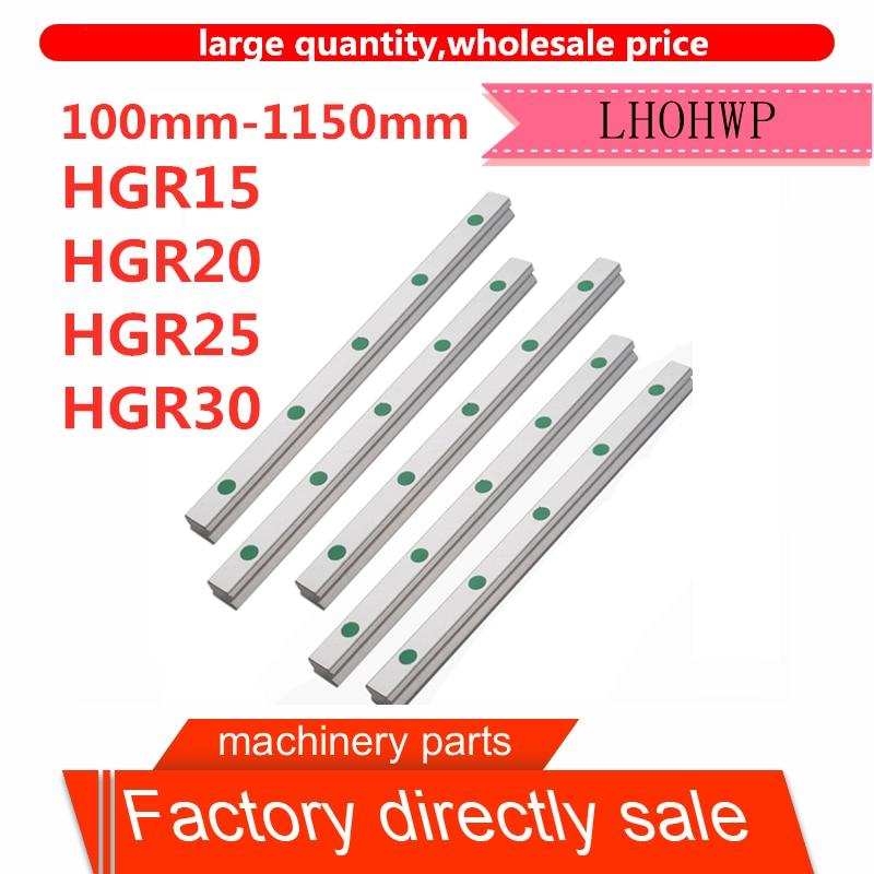 Free Shipping 100mm-1150mm HGR15 HGR20 HGR25 HGR30 Square Linear Guide For Engraving HIWIN Slider Bracket CNC Engraving Machine