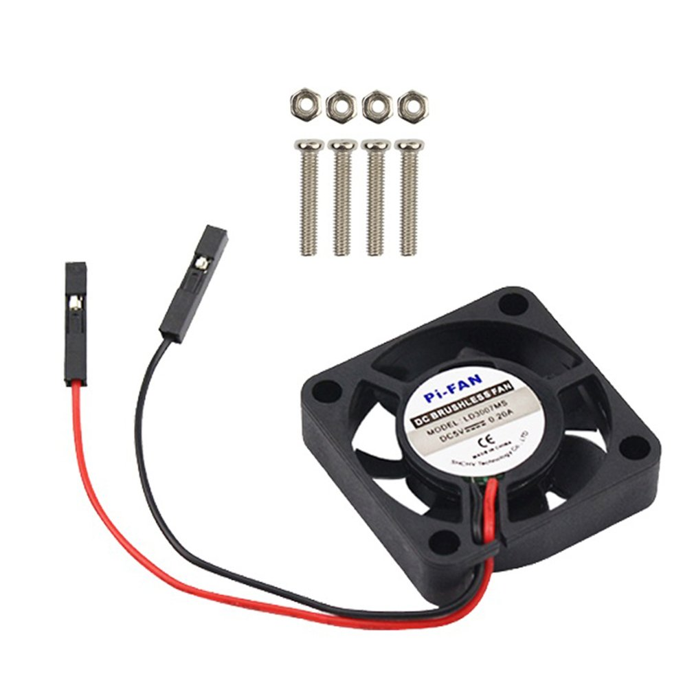 For Raspberry Pi CPU Fan Adjustable For Raspberry Pi 4 B / 3B+ / 3B / 2B / B+ CPU Cooling Fan Adjustable 5V 3.3V