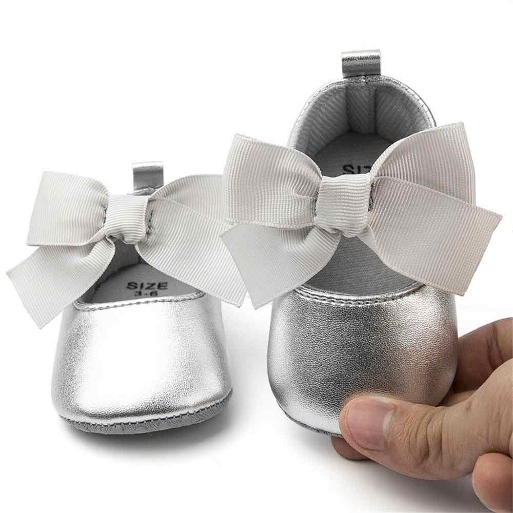 Bebé niña Zapatos niño Zapatos Niña chico bebé niñas princesa niño lindo primer paseo nudo de lazo seda corbata Zapatos de princesa de las niñas