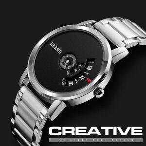 Image 3 - SKMEI Новые Креативные кварцевые мужские часы со стальным сетчатым ремешком, водонепроницаемые Модные повседневные мужские наручные часы, мужские часы