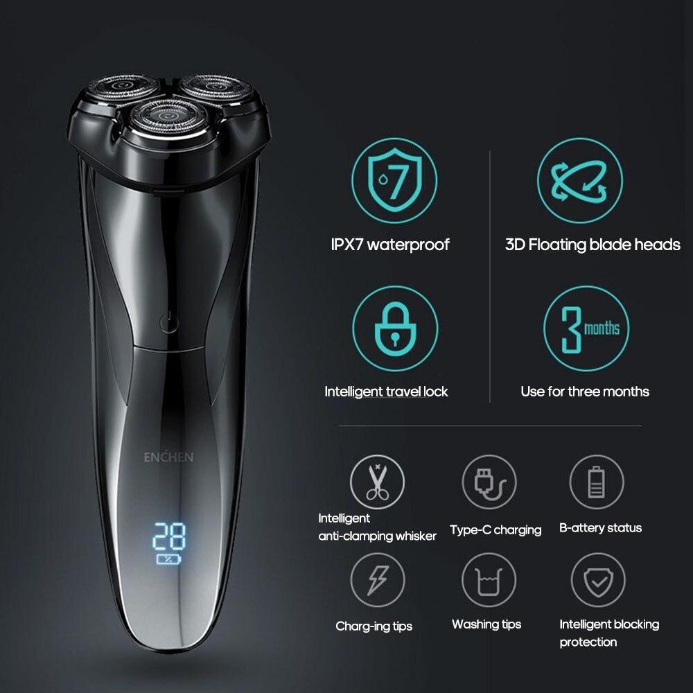 Razor Shaving-Beard-Machine Electric-Shaver Smart-Control Enchen Waterproof Blackstone3 Ipx7