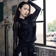 2019Summer and autumn new sports fitness runng coat women's quick-dryg mesh coat long sleeve zipper