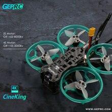 GEPRC CineKing 95mm 2inch STABLE F411 200mW Caddx Tarsier 4K 1103/1105 2S/3-4S FPV Cinewhoop Racing