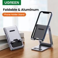 UGREEN-Soporte de escritorio ajustable para teléfono móvil, base de aluminio para iPhone 12 Pro Max XR