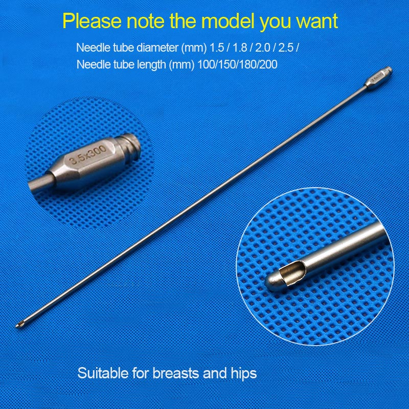 1pcs Single Hole Staircase Fat Injection Needle Suitable For Milk And Hips