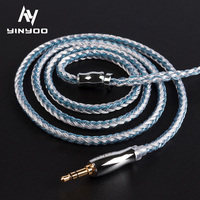 Yinyoo 16 Core High Purity Silver Plated Cable 2.5/3.5/4.4MM With MMCX/2PIN/QDC TFZ FOR KZZS10 Pro AS10 AS16 ZSN PRO C12 TRN