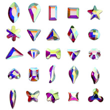 Fabric-Decoration Rhinestones Crystal Ab Iron-On Hot-Fix AAAAA Y3853 Special-Shapes