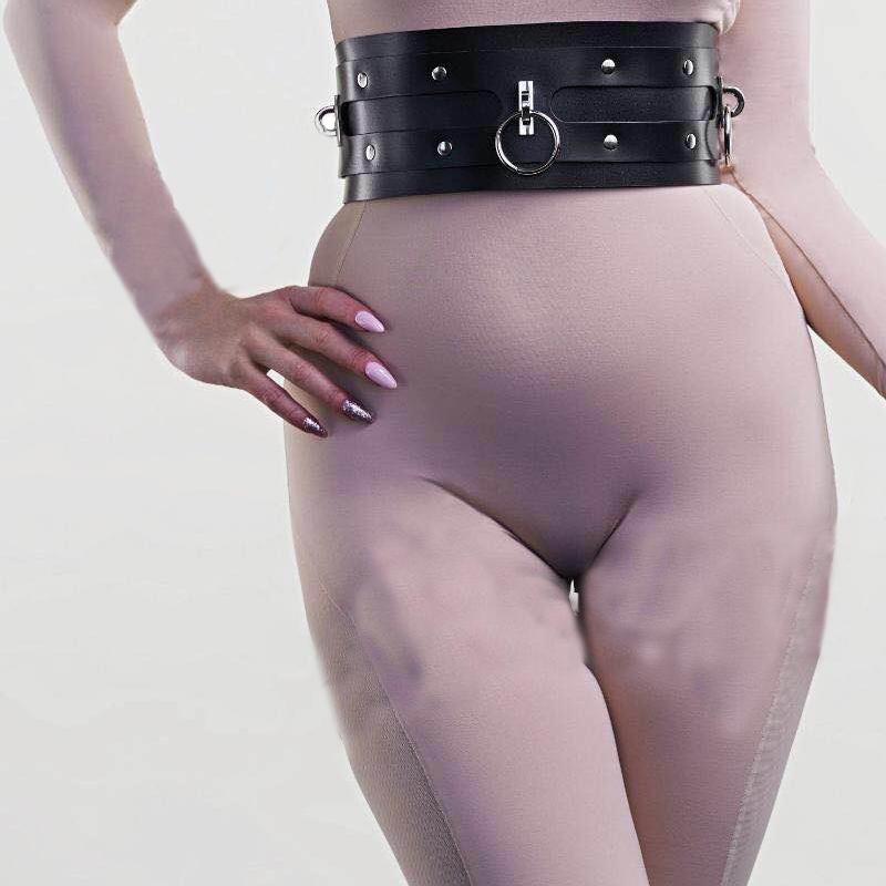 Vintage Women New Harajuku Corset Straps Metal Clip Leather Punk Hook adjustable ring Handmade Unisex Sock Garter Belt Accessory